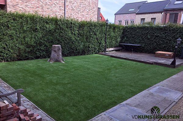 Kunstgras tuin in Schoten