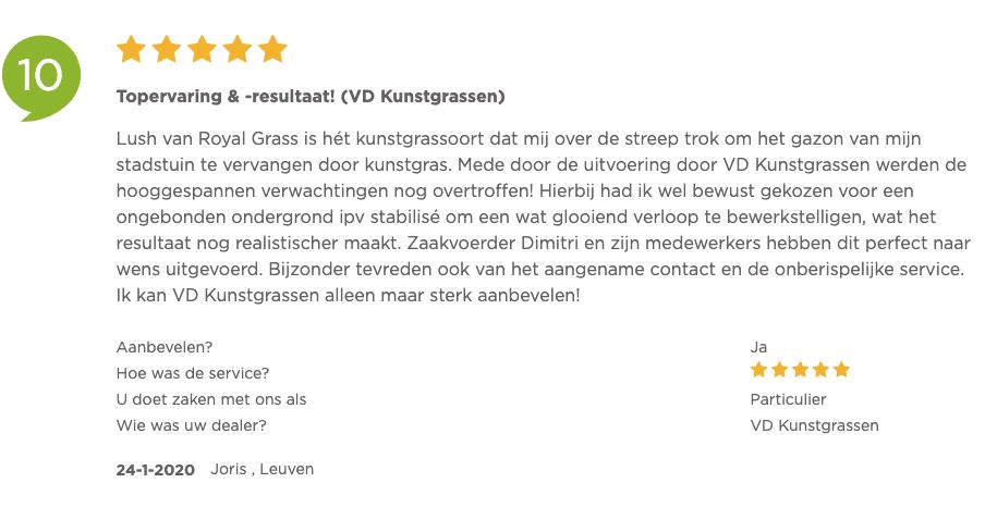 Review VD kunstgrassen