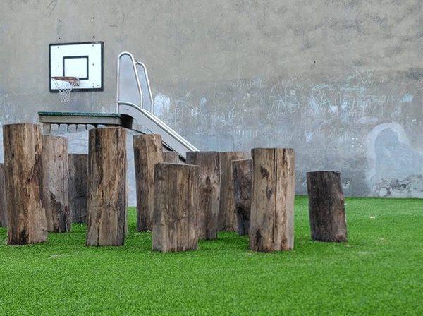 Kunstgras speelplaats