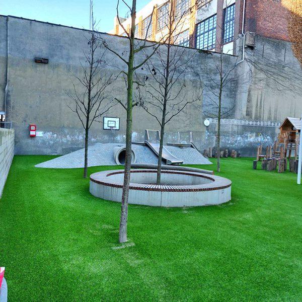 Kunstgras speeltplaats school