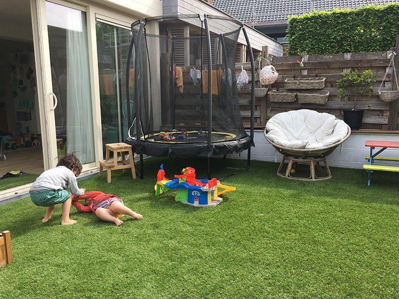 Kunstgras tuin kinderen
