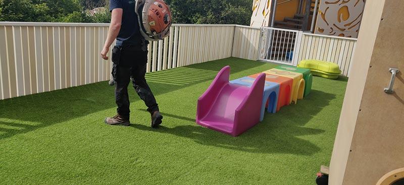 Kunstgras kinderdagverblijf